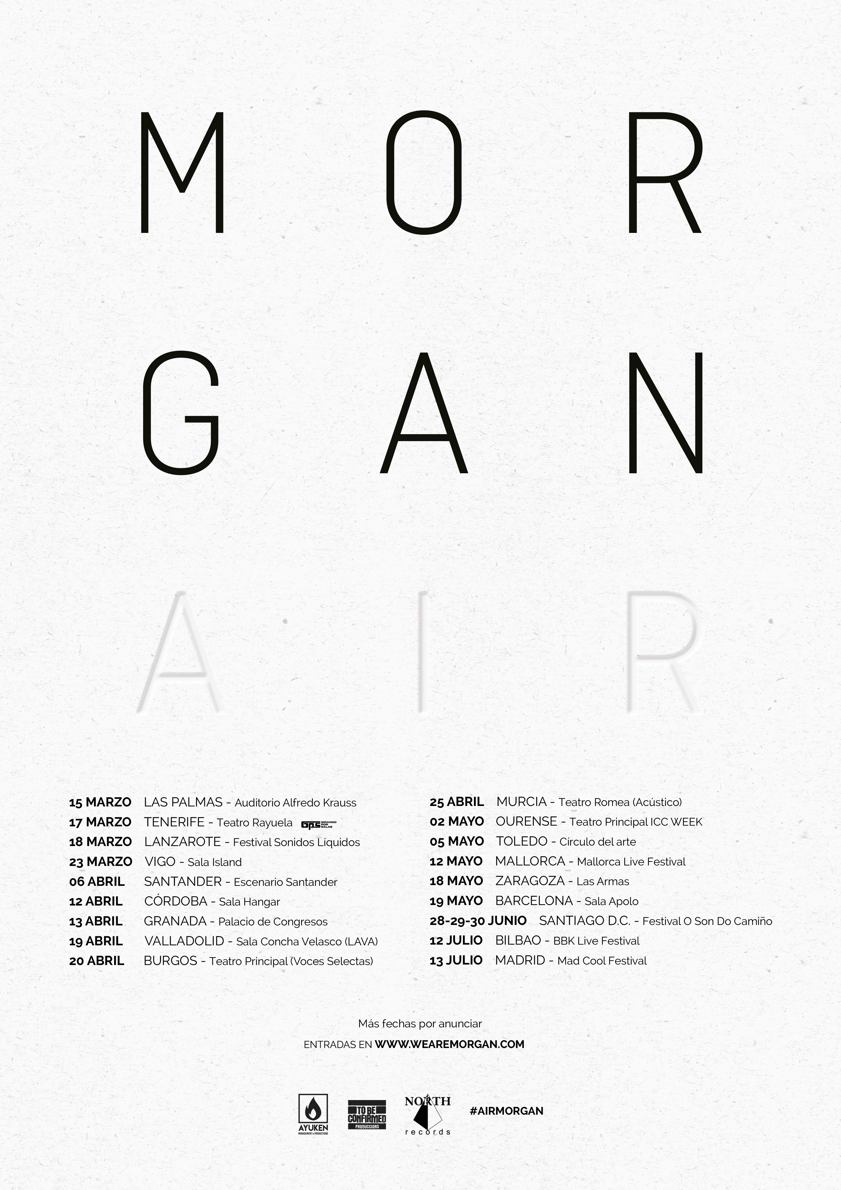 MORGAN: Gira AIR - 2018